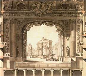 Elevation Drawing of the Stage, Versailles Opera House