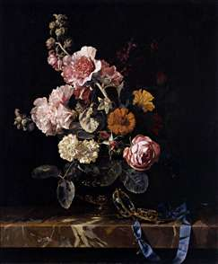 Vase of Flowers with Pocket Watch