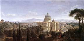 The St Peter's in Rome
