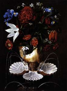 Still-Life with Shell Fountain and Flowers