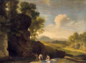 Landscape with Bathing Nymphs