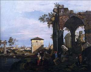 Capriccio with Ruins and Porta Portello, Padua