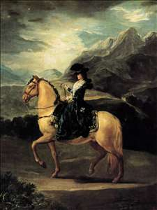 Portrait of María Teresa de Vallabriga on Horseback