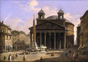 View of the Pantheon, Rome