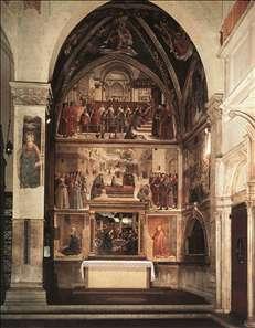 View of the Sassetti Chapel