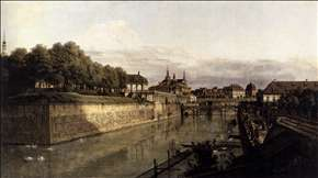 The Moat of the Zwinger in Dresden
